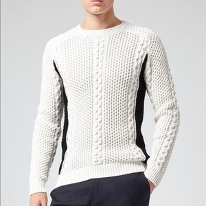 Cable knit sweater by REISS size small